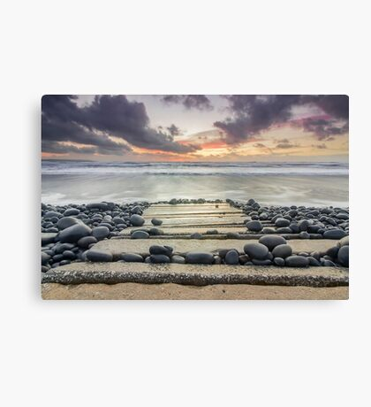 After the storm - Westward Ho! walkway Canvas Print