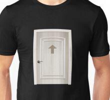 Glitch furniture door round square white door Unisex T-Shirt