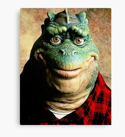 Dinosaurs Tv Canvas Print