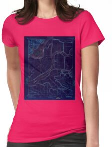 USGS TOPO Map California CA Jersey 296187 1910 31680 geo Inverted Womens Fitted T-Shirt
