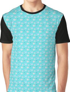 Cute whales and fish in a bubbly sea Graphic T-Shirt