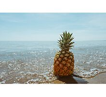 Washed up Pineapple Photographic Print