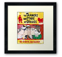 The Trainers Who Stare At Skiddos  Framed Print