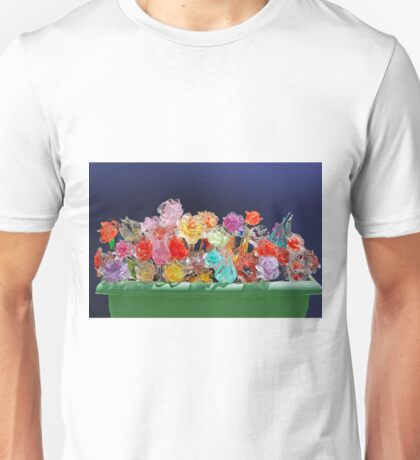 Flower-box with glass flowers Unisex T-Shirt