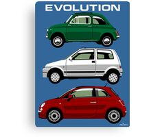 Evolution of the Fiat 500 Canvas Print