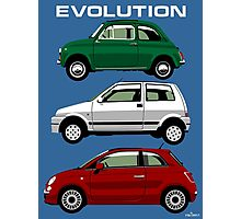 Evolution of the Fiat 500 Photographic Print