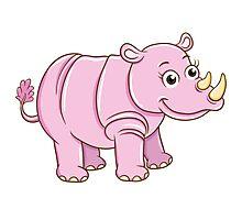 Cute cartoon rhino Photographic Print