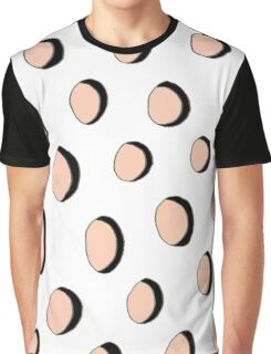 Buttons and holes - Pink Graphic T-Shirt