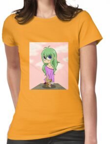 The doll with green hair Womens Fitted T-Shirt