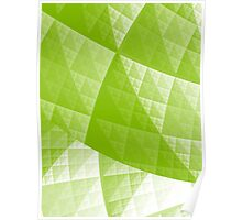 Greenery abstract pattern Poster