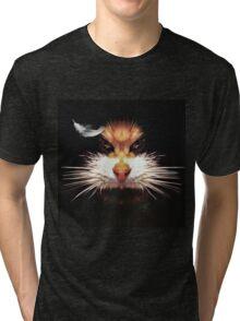 Naughty cat Tri-blend T-Shirt