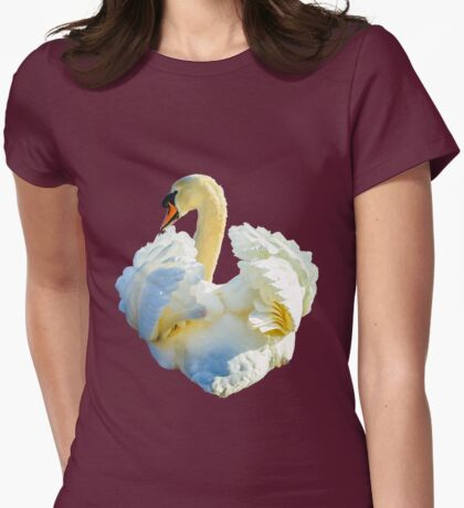 Mute Swan Display Womens Fitted T-Shirt