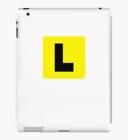 L plate Learner Driver iPad Case/Skin