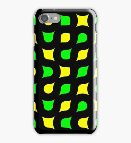 Yellow green shapes iPhone Case/Skin
