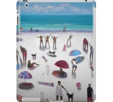 yoga on the beach iPad Case/Skin