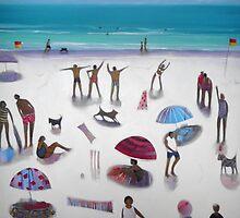 yoga on the beach by bronnewbury