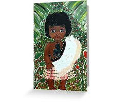 Maori Girl Greeting Card