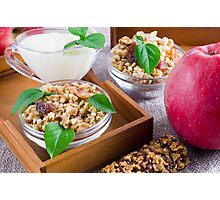 Healthy ingredients for breakfast Photographic Print