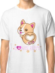 Corgi Butt Dog Breed Cute Pink Paw Prints Gift Classic T-Shirt