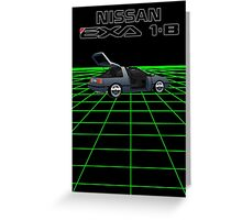 Nissan N13 Exa Coupe Greeting Card