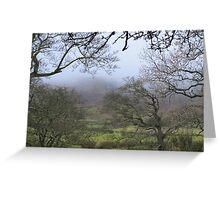 Pendle hill in winter Greeting Card