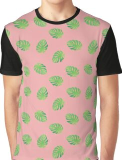 Monstera on Pink Graphic T-Shirt