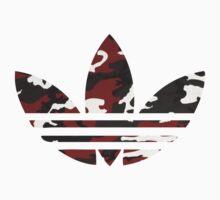 Adidas Trefoil Original Red Camo Kids Clothes