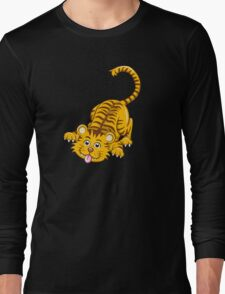 Funny playing cartoon tiger T-Shirt