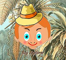 """""""Toon Boy 3a"""" Explorer in the Jungle iPhone case  by Dennis Melling"""