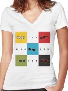 The Maccabees - Wall of Arms Women's Fitted V-Neck T-Shirt