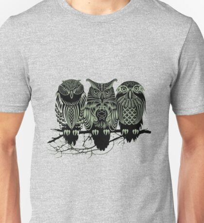 owl three owls Unisex T-Shirt