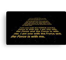 I am one with the Force Canvas Print
