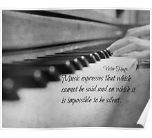 Music Expresses Victor Hugo Poster
