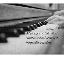 Music Expresses Victor Hugo Photographic Print