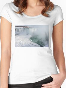 Icy Fury -  Niagara Falls Spectacular Ice Buildup Women's Fitted Scoop T-Shirt