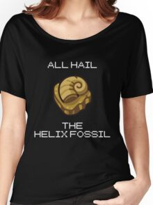 ALL HAIL THE HELIX FOSSIL (white) Women's Relaxed Fit T-Shirt