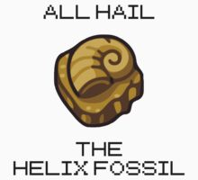 ALL HAIL THE HELIX FOSSIL (black) Kids Tee
