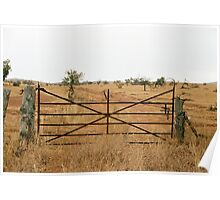 ornate farm gate Poster