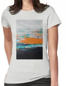 Contemporary abstract art with mid-century twist Womens Fitted T-Shirt