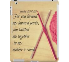 Psalm 139 Knitted together iPad Case/Skin