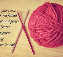 Psalm 139 Knitted together by Kimberose
