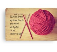 Psalm 139 Knitted together Canvas Print