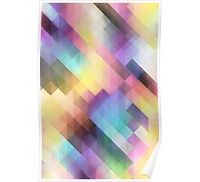 Geometric pastel cubes abstract pattern Poster