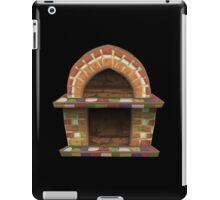 Glitch furniture fireplace rustic oven iPad Case/Skin