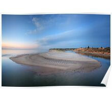 Blue  Hour At Southport Poster