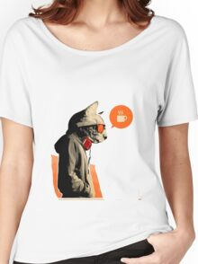 cool cat want coffee Women's Relaxed Fit T-Shirt