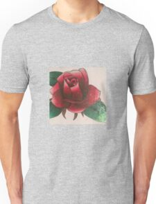 Original flower drawing with colored pencil  Unisex T-Shirt