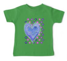 Hearts and Flowers Baby Tee