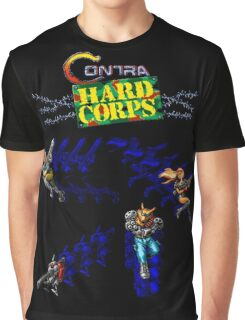 Contra Hard Corps (Genesis Character Lineup) Graphic T-Shirt