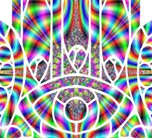 Rainbow Psychedelic Hamsa Sticker
